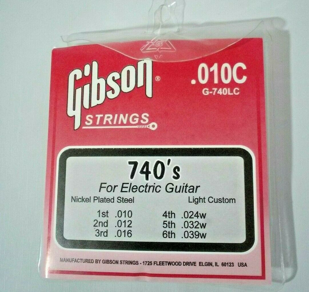 Vintage Gibson .010C G-740LC Electric Guitar 6 Strings Set