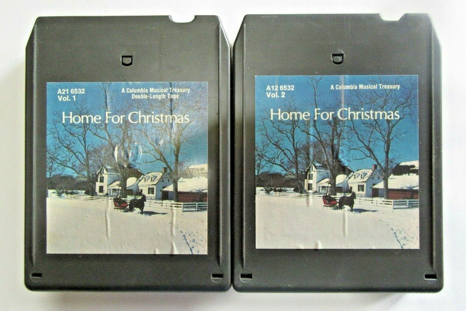 Home for Christmas 8 Track Tape Set Columbia Musical Treasury Vo
