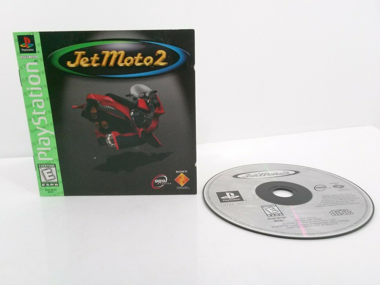 Jet Moto 2 PlayStation 1 PS1 With Manual No Jewel Case