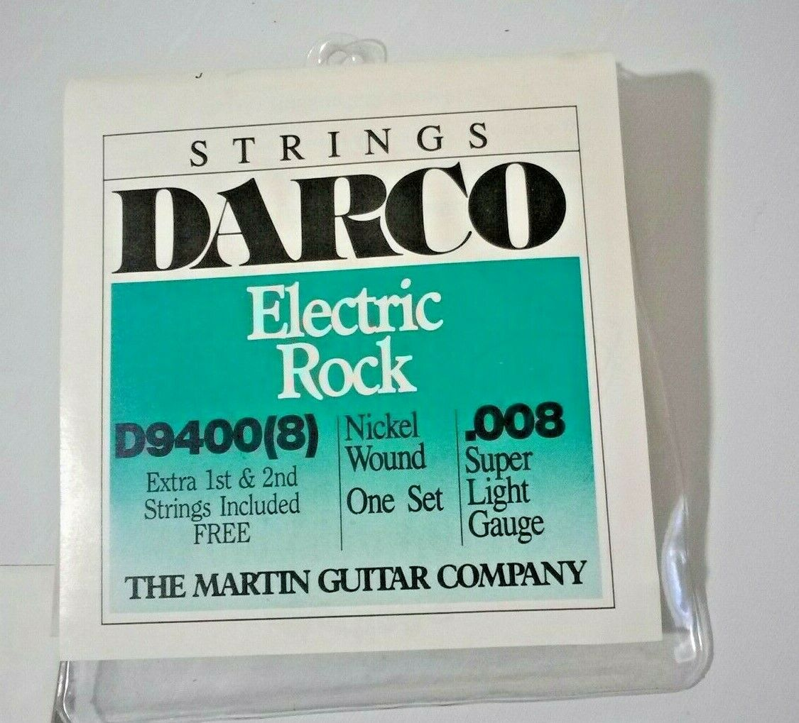 Vintage Martin Darco Electric Rock Nickel Wound Super Light Gaug