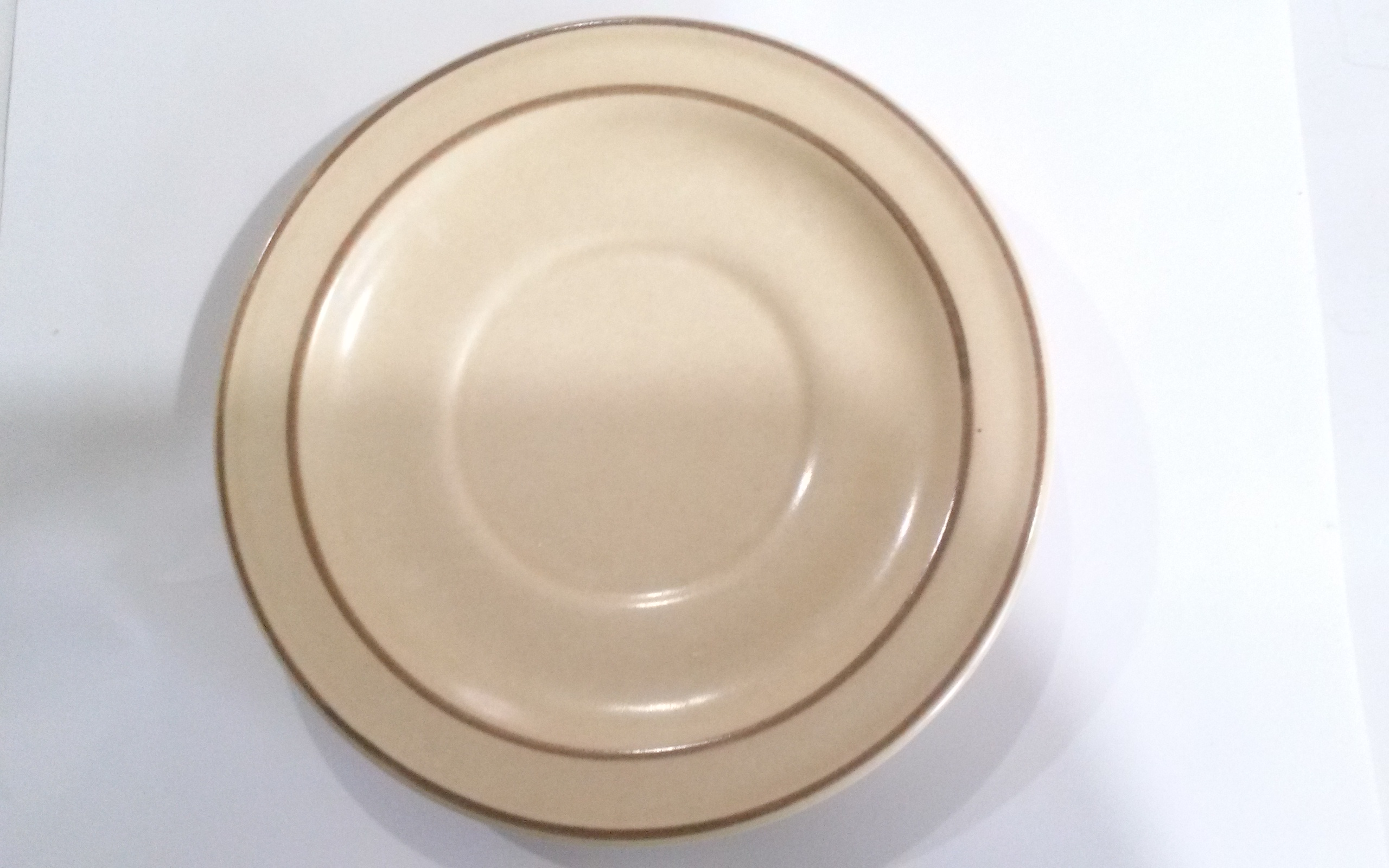 "Pfaltzgraff Village Tan and Brown Saucer 6.5"" Diameter"