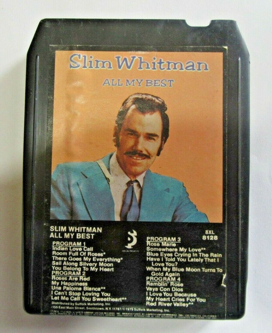 SLIM WHITMAN - ALL MY BEST - 8 TRACK TAPE